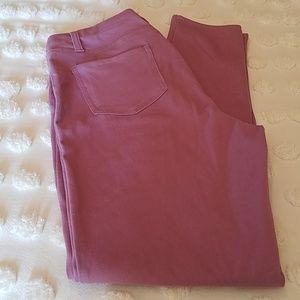Lavender color skinny jeans
